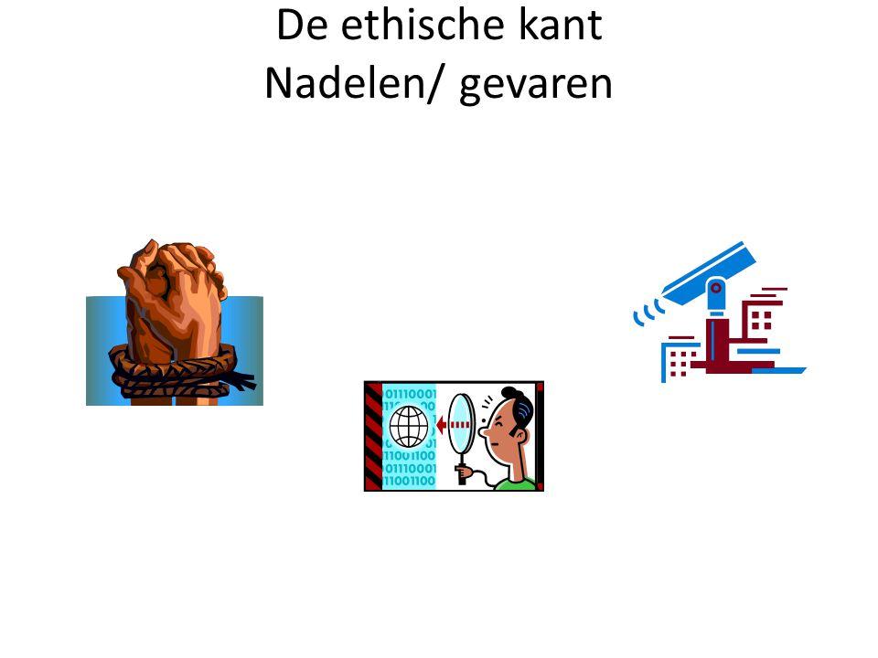De ethische kant Nadelen/ gevaren