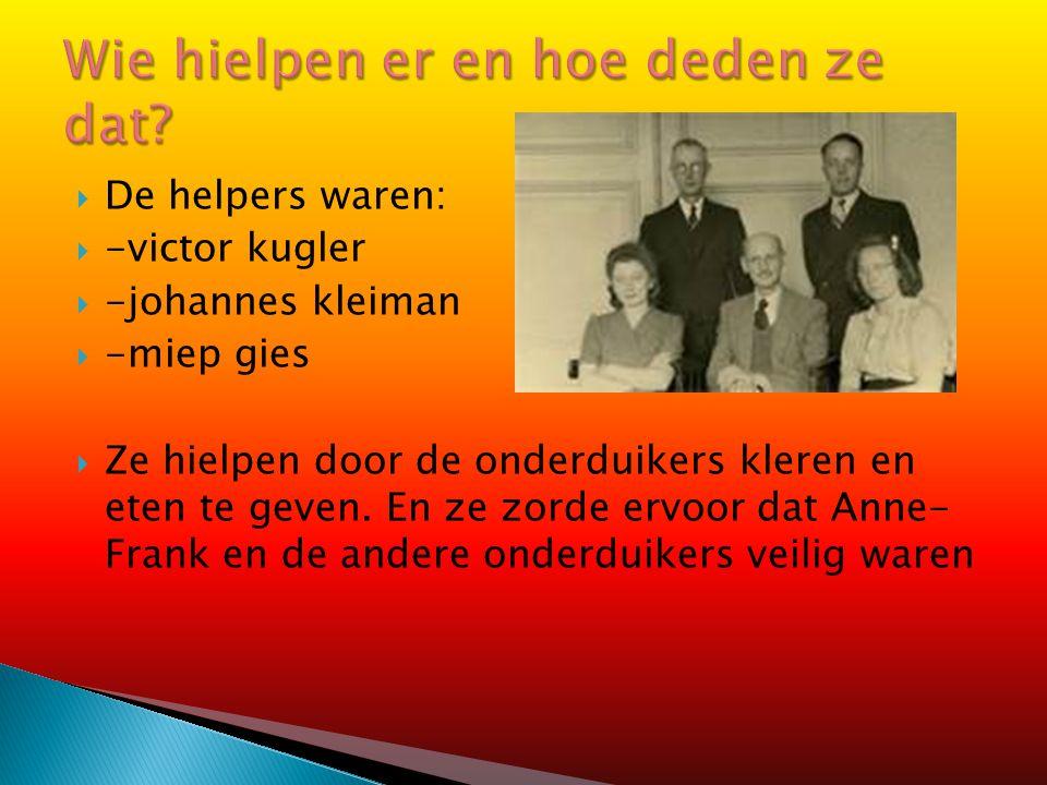 Willem van Maaren was een man die in hetzelfde bedrijf werkte als het bedrijf waar het achterhuis zat. Maar hij wist niks van de onderduikers. Dat kwa