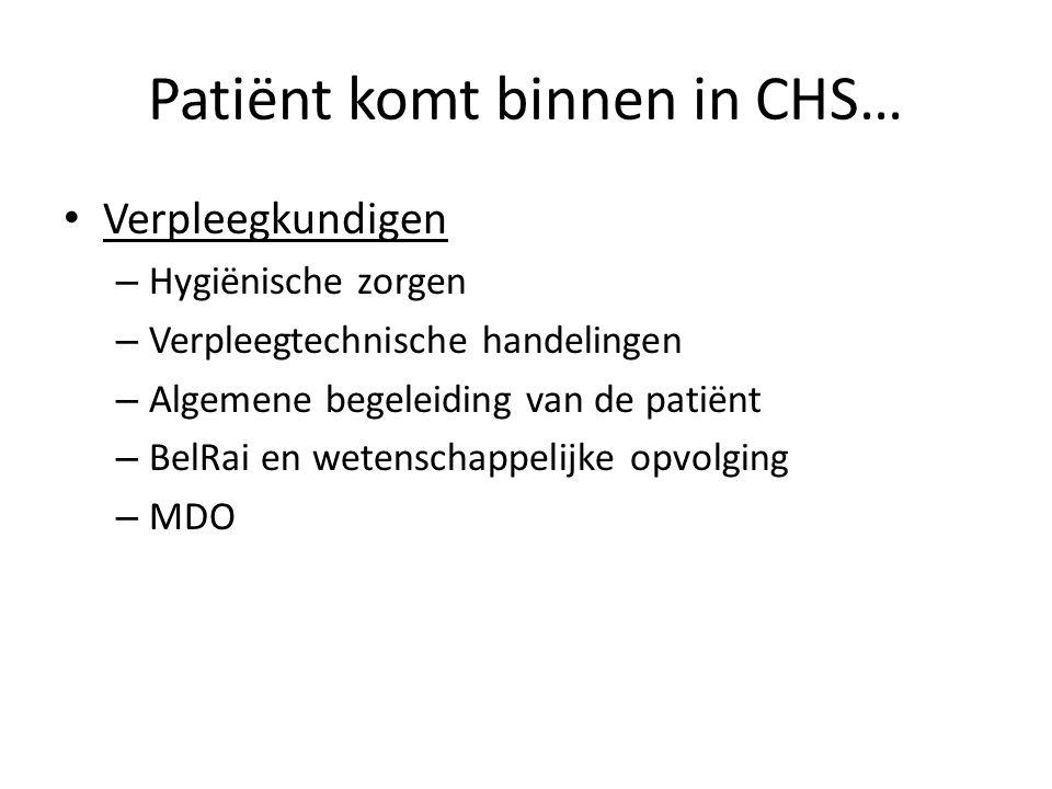 Verpleegkundigen – Hygiënische zorgen – Verpleegtechnische handelingen – Algemene begeleiding van de patiënt – BelRai en wetenschappelijke opvolging –