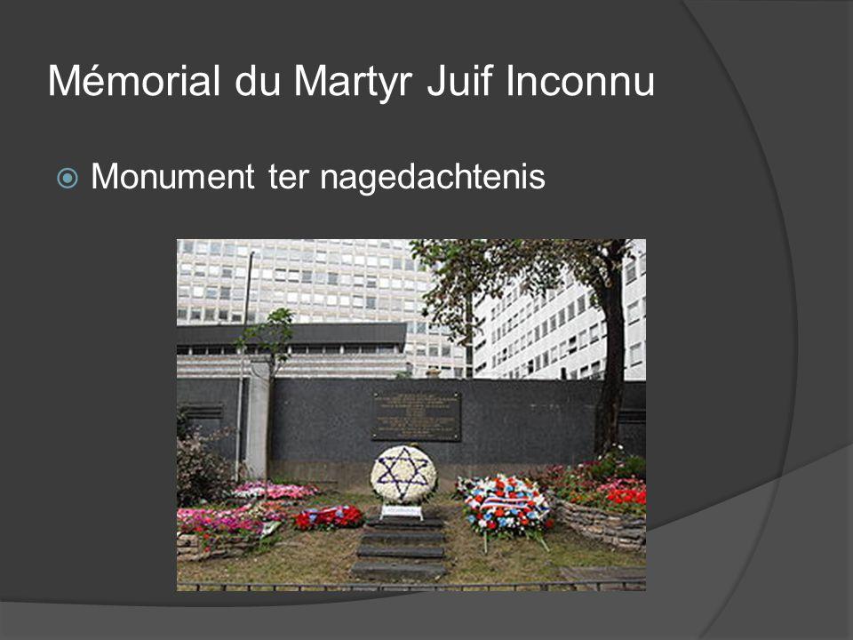 Mémorial du Martyr Juif Inconnu  Monument ter nagedachtenis