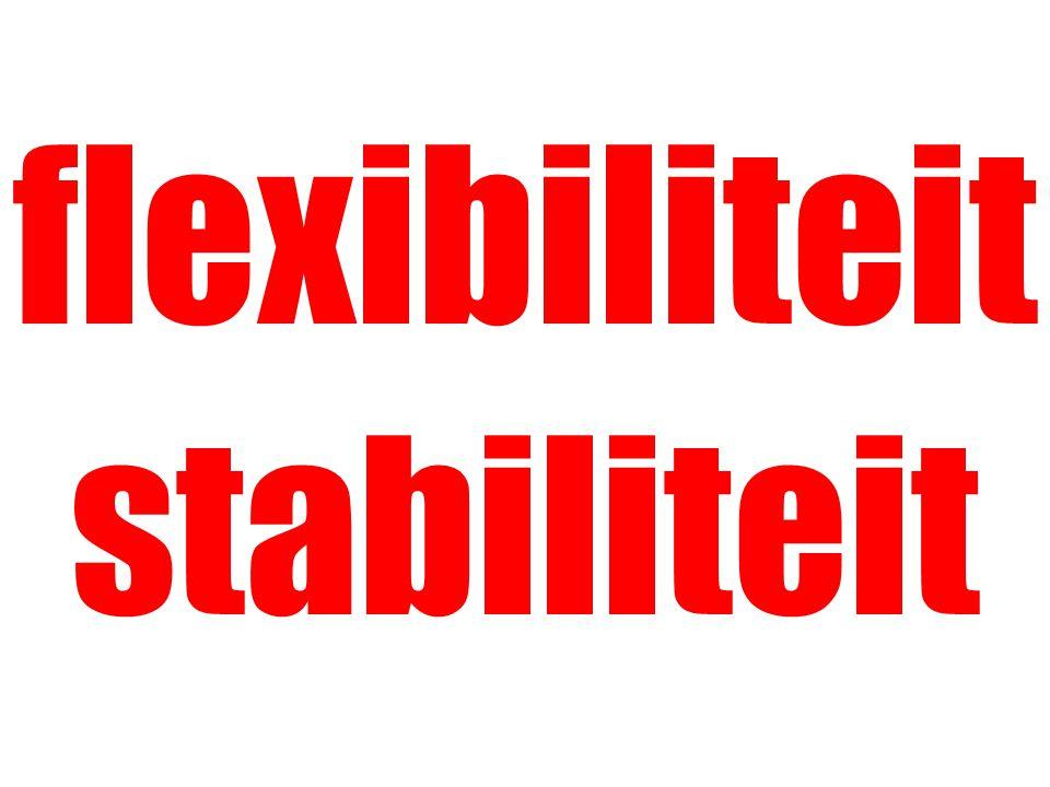 flexibiliteit stabiliteit