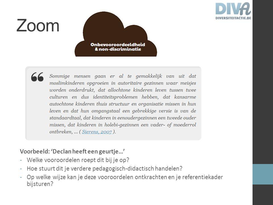 Omgaan met diversiteit Geen kant-en-klare oplossingen Enkel 'handvaten' Alles begint bij een grondhouding!