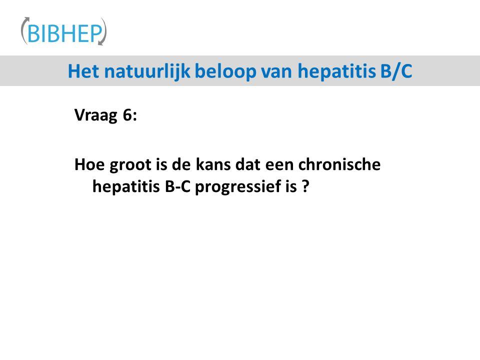 Vraag 6: Hoe groot is de kans dat een chronische hepatitis B-C progressief is ? Het natuurlijk beloop van hepatitis B/C