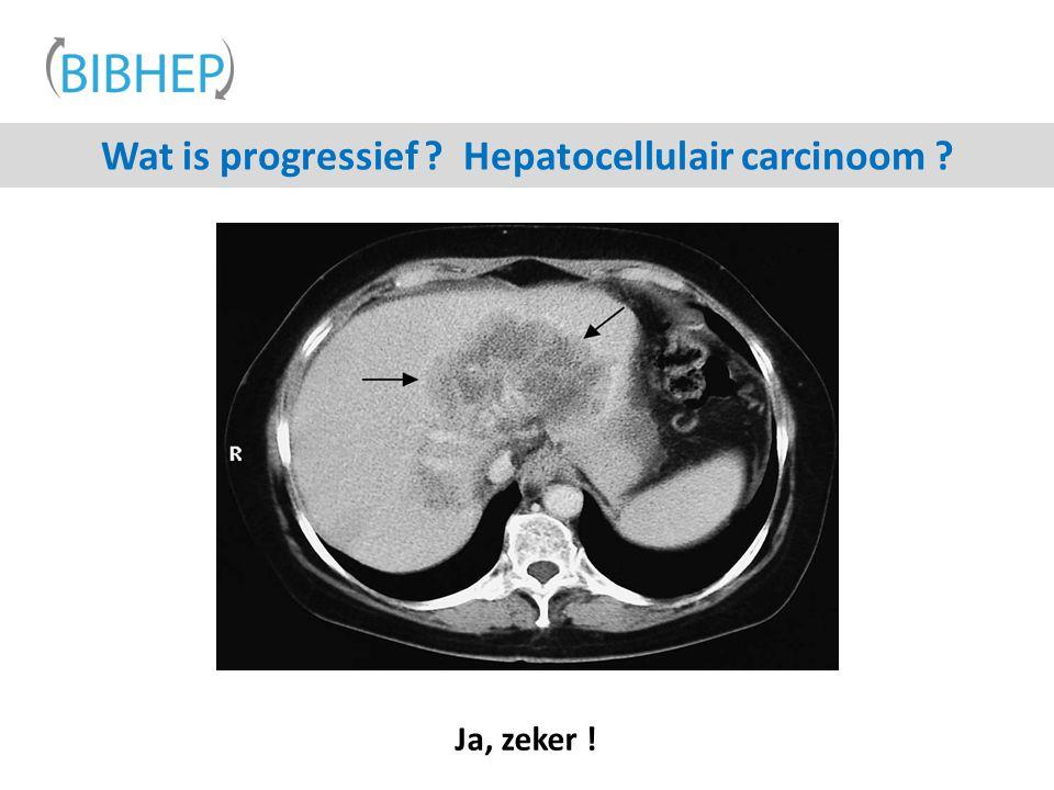 Wat is progressief ? Hepatocellulair carcinoom ? Ja, zeker !