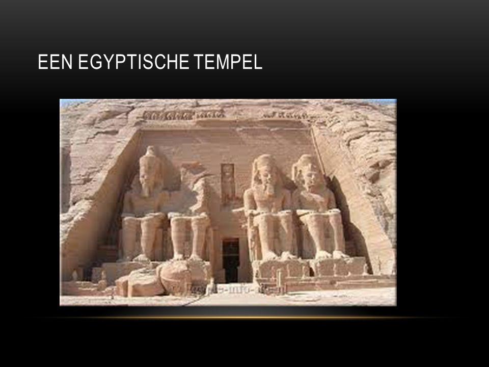 EEN EGYPTISCHE TEMPEL