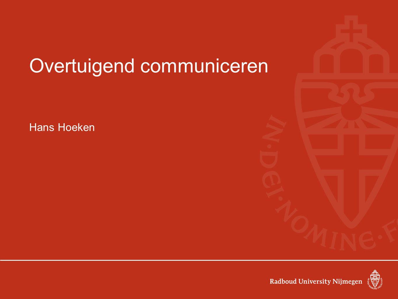 Overtuigend communiceren Hans Hoeken