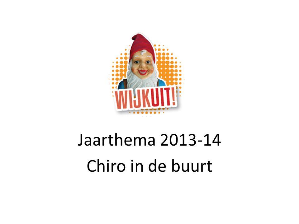 WIJKUIT! Jaarthema 2013-14 Chiro in de buurt