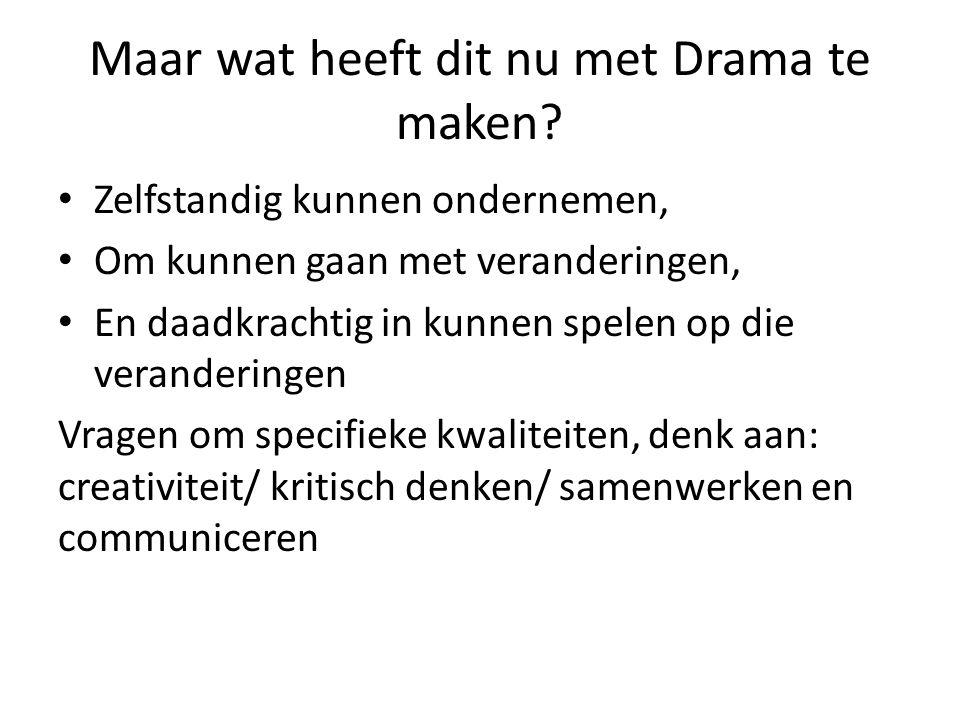 Maar wat heeft dit nu met Drama te maken.