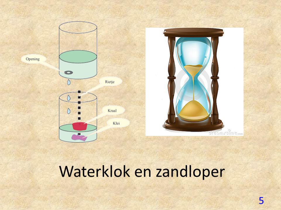 Waterklok en zandloper 5