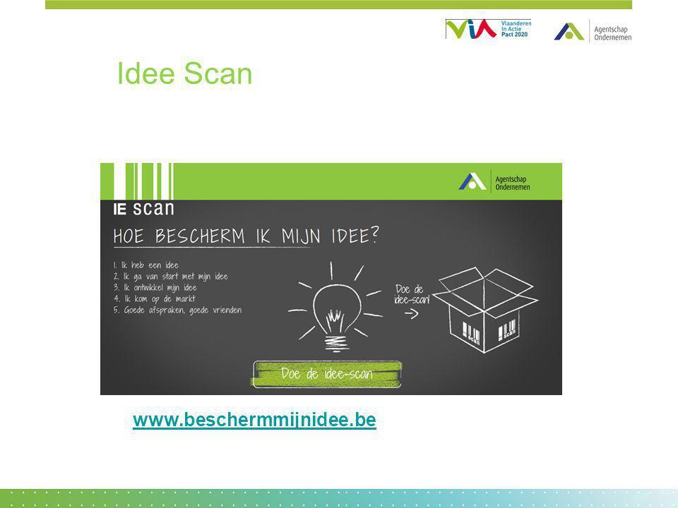 www.beschermmijnidee.be Idee Scan
