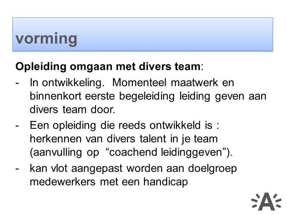 Opleiding omgaan met divers team: -In ontwikkeling.