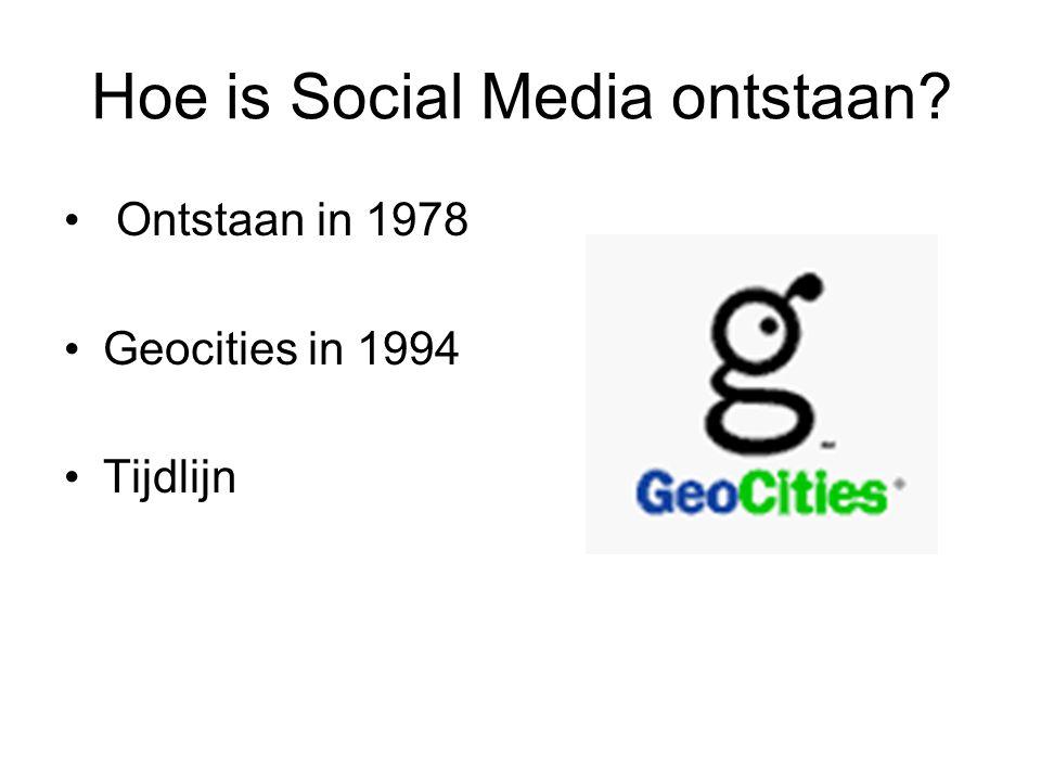 Ontstaan in 1978 Geocities in 1994 Tijdlijn