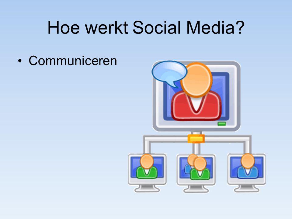 Hoe werkt Social Media? Communiceren