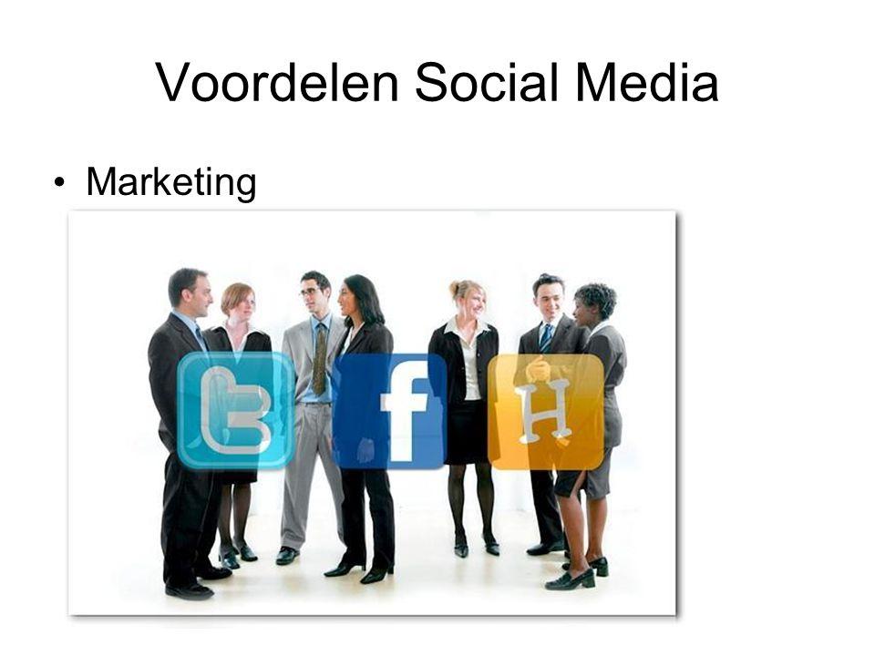 Voordelen Social Media Marketing