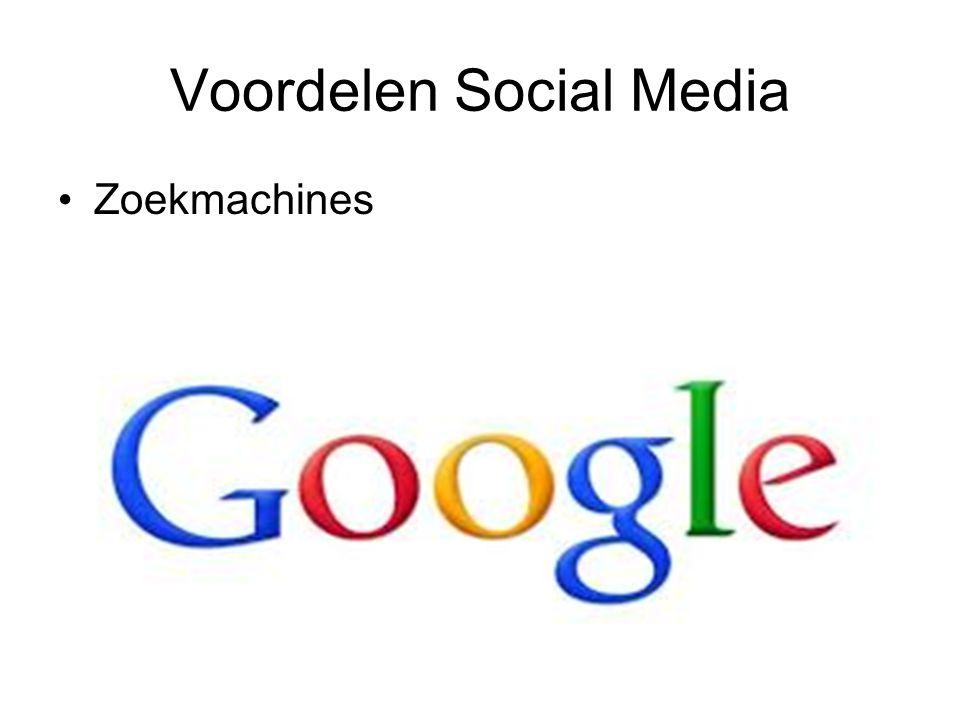 Voordelen Social Media Zoekmachines
