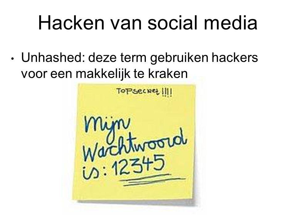Hacken van social media Unhashed: deze term gebruiken hackers voor een makkelijk te kraken
