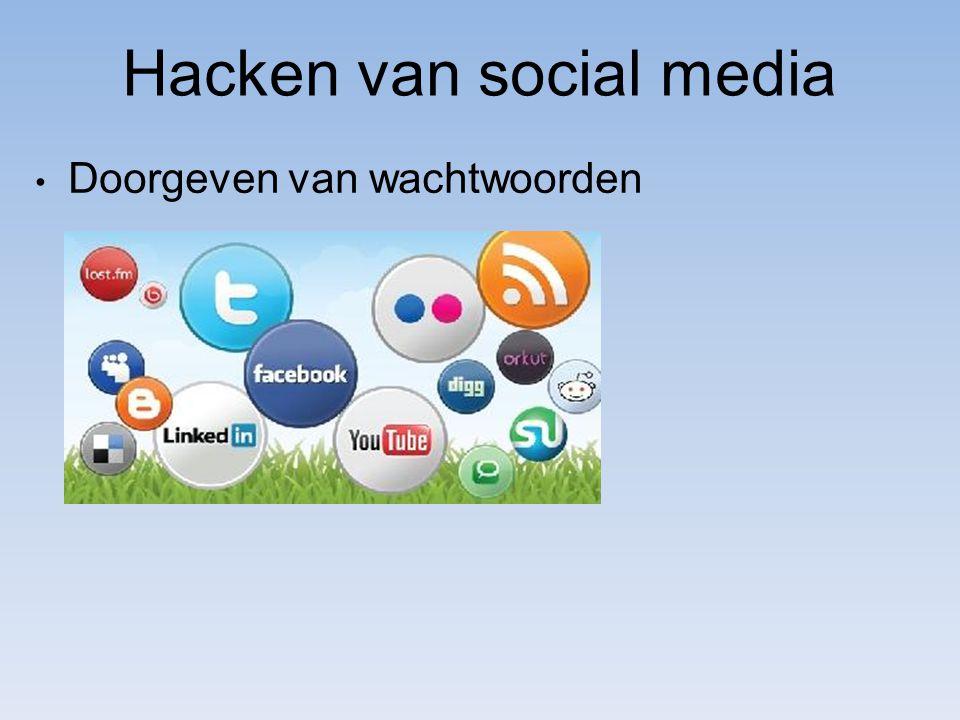 Hacken van social media Doorgeven van wachtwoorden