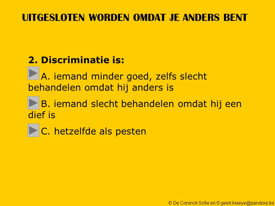 © De Coninck Sofie en © geert.kraeye@pandora.be UITGESLOTEN WORDEN OMDAT JE ANDERS BENT 2.