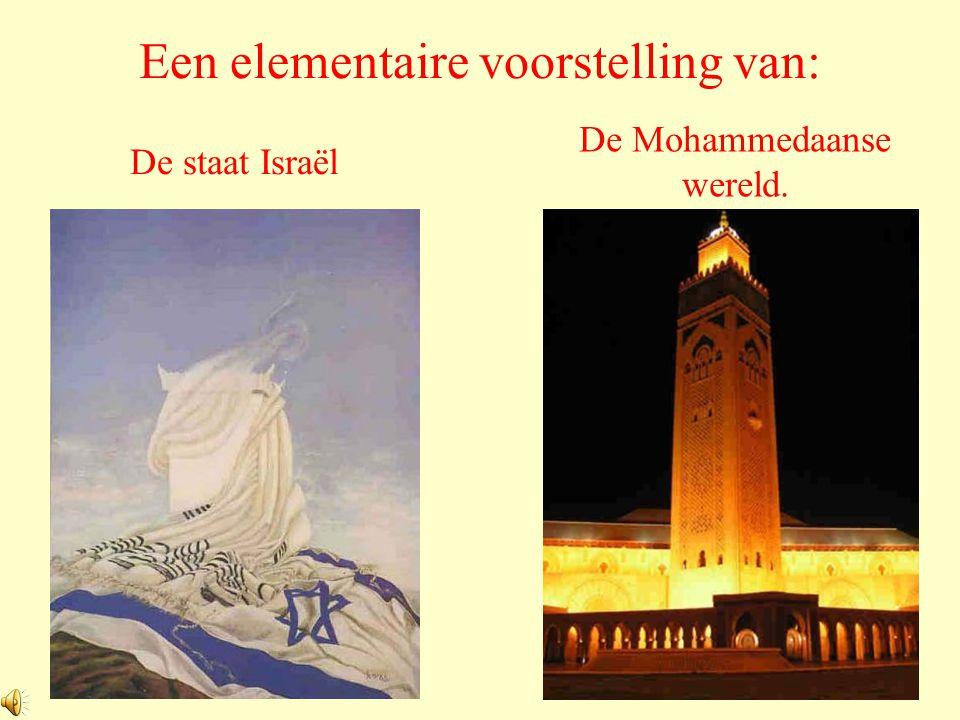 Een elementaire voorstelling van: De staat Israël De Mohammedaanse wereld.