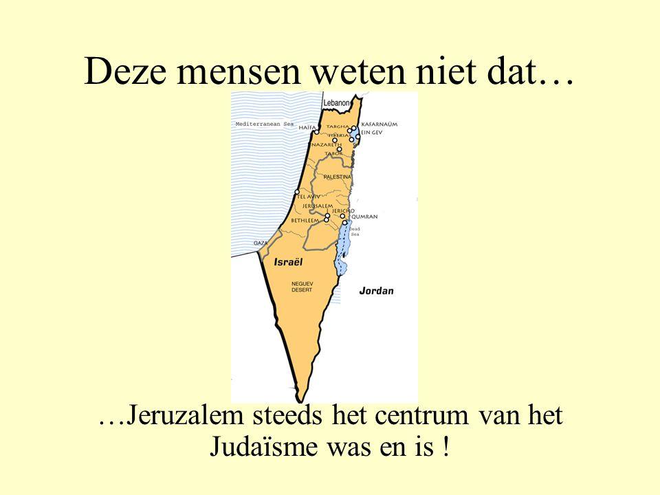 Deze mensen weten niet dat…… …desondanks, tientallen miljoenen Joden erin slaagden in Israël te blijven.
