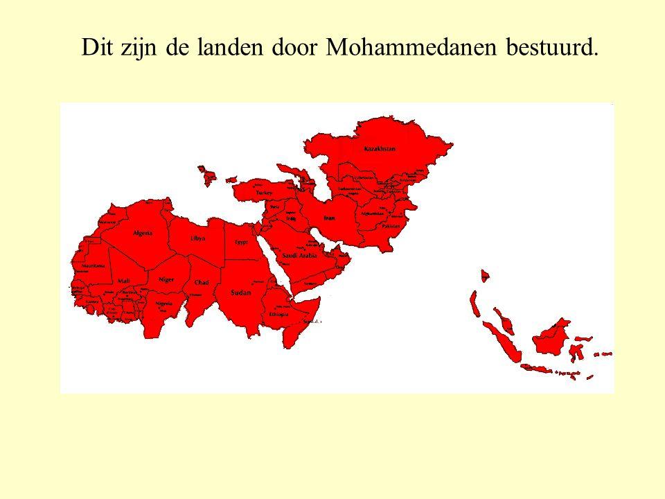Er zijn meer dan 1100 miljoen Mohammedanen in de wereld