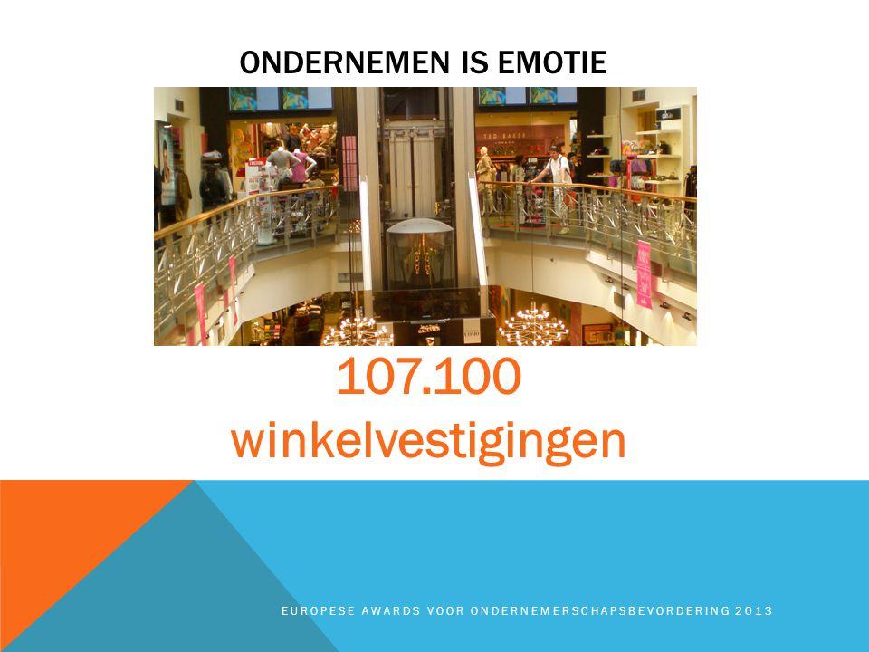 ONDERNEMEN IS EMOTIE EUROPESE AWARDS VOOR ONDERNEMERSCHAPSBEVORDERING 2013 107.100 winkelvestigingen