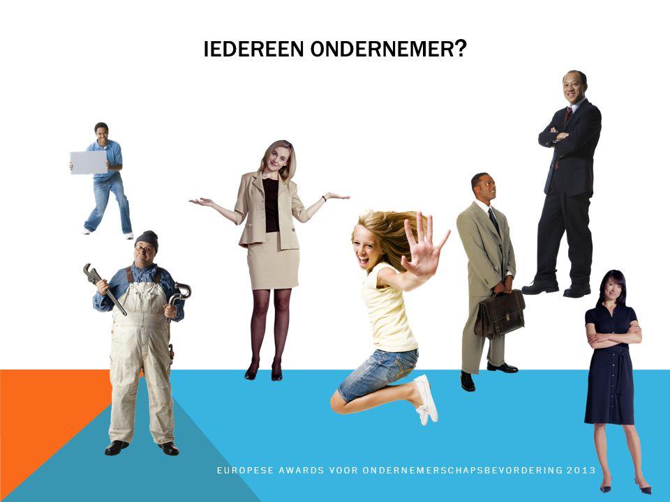 IEDEREEN ONDERNEMER EUROPESE AWARDS VOOR ONDERNEMERSCHAPSBEVORDERING 2013