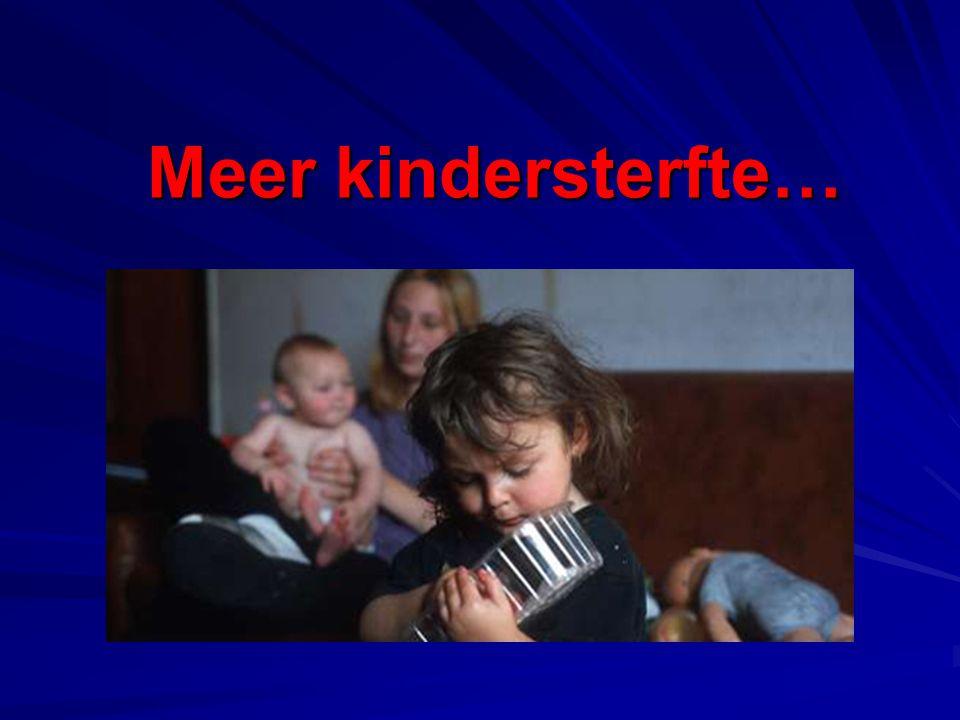 Meer kindersterfte… Meer kindersterfte…