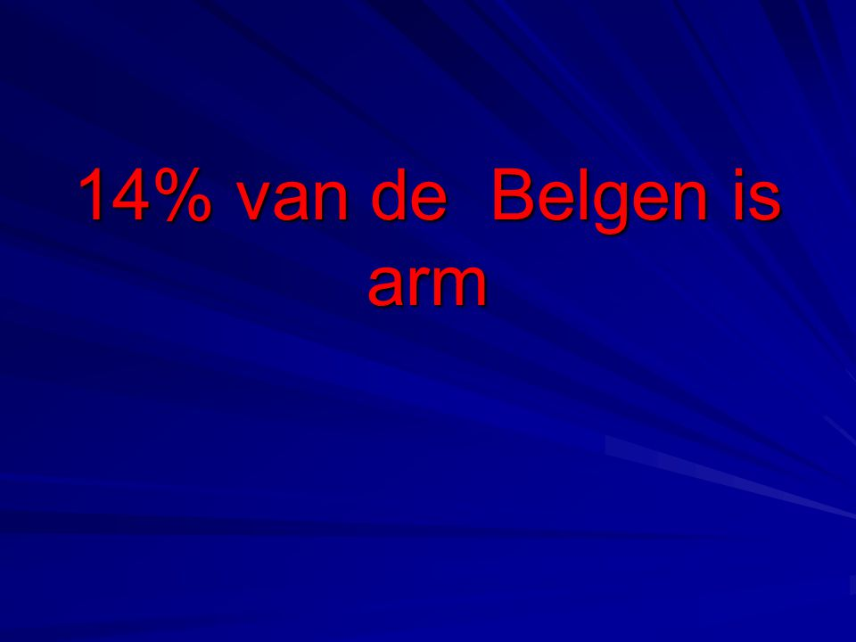 14% van de Belgen is arm