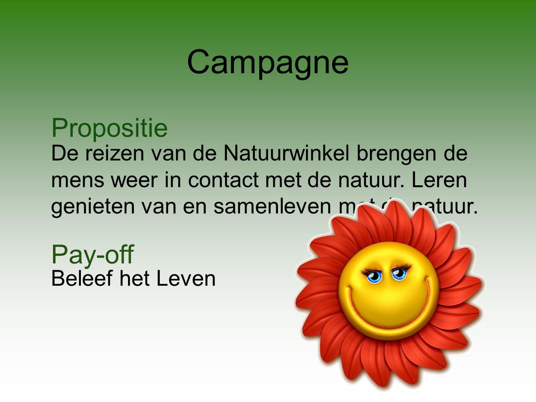 Campagne Propositie De reizen van de Natuurwinkel brengen de mens weer in contact met de natuur.