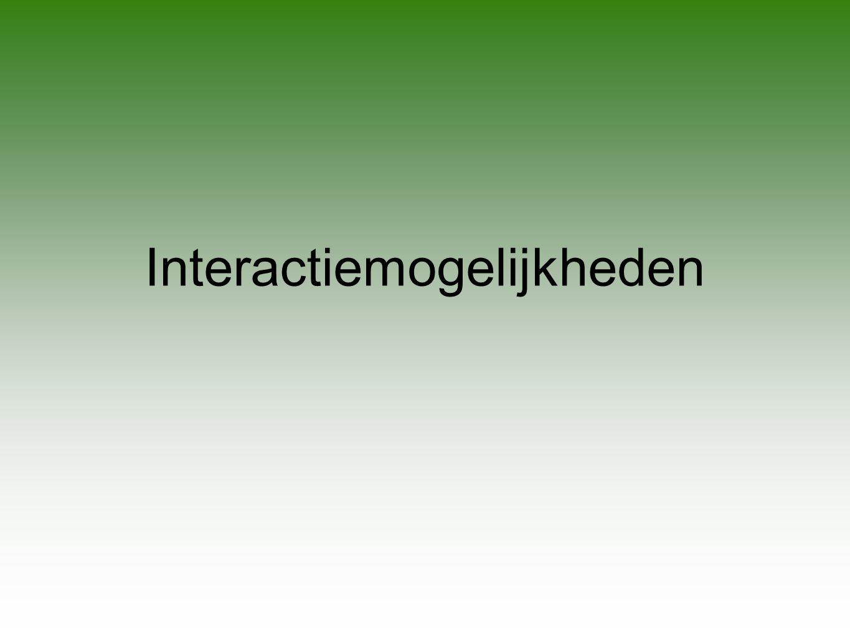 Interactiemogelijkheden