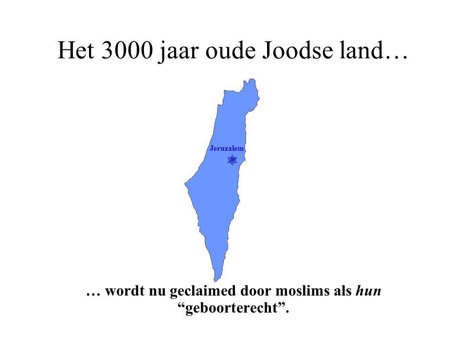  Jeruzalem Dit 3000 jaar oude Joodse land…