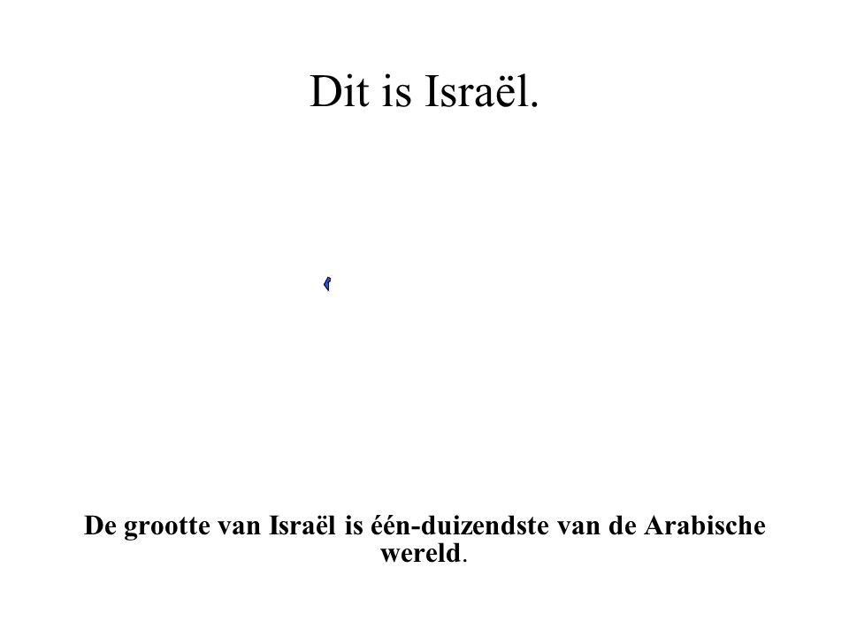 Dit is Israël. Israël is het enige land ter wereld dat door Joden wordt geregeerd.