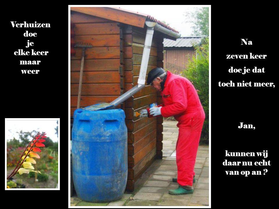 Elk jaar maak je een nieuwe tuinraming !