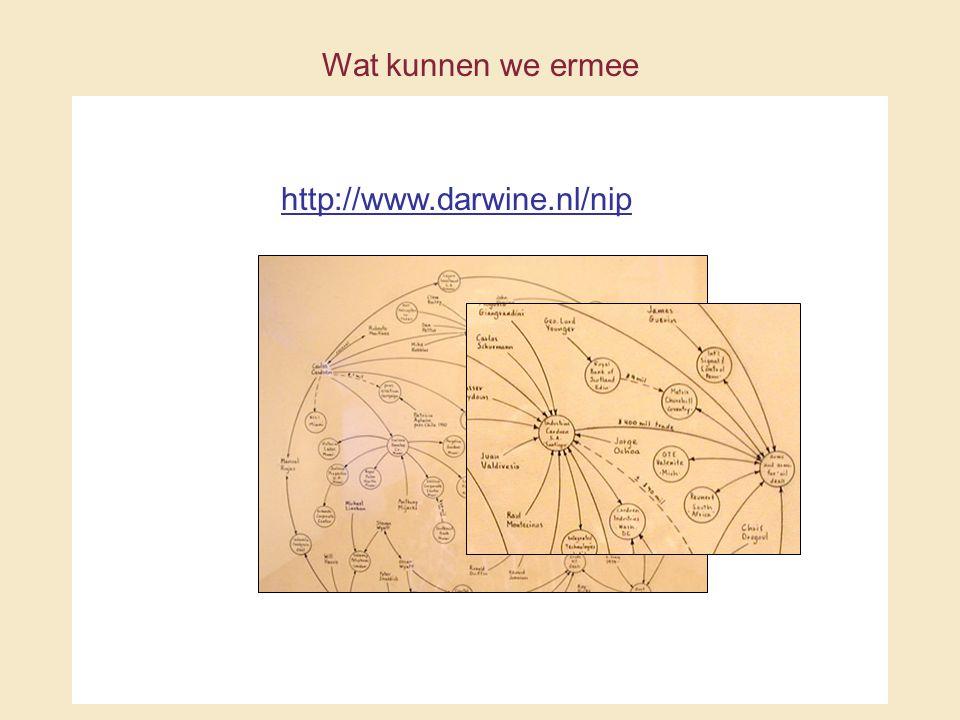 http://www.darwine.nl/nip Wat kunnen we ermee