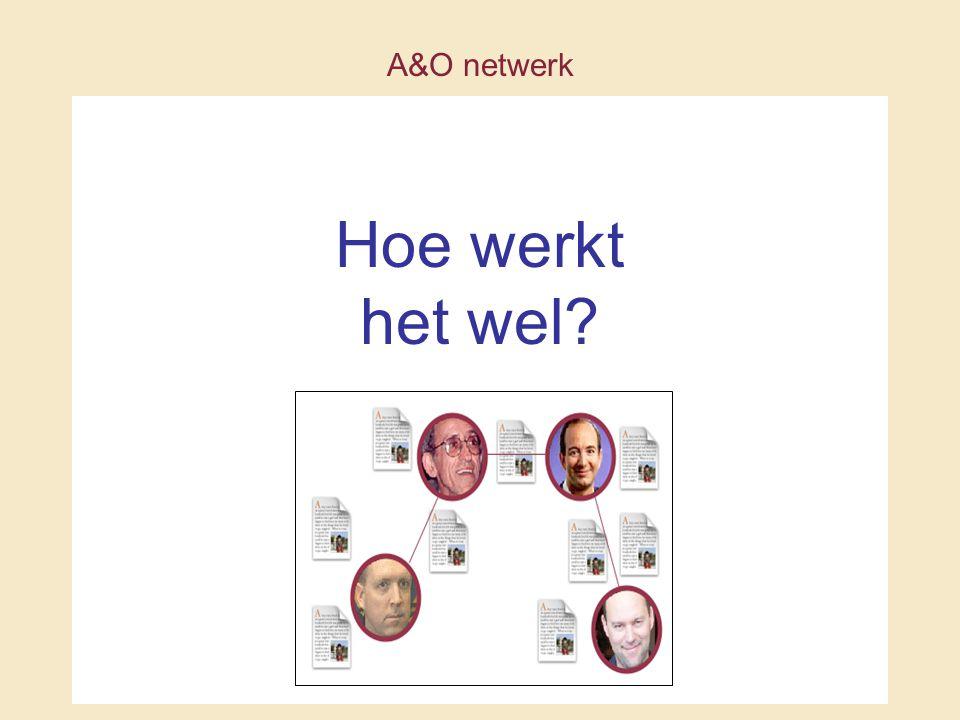 A&O netwerk Hoe werkt het wel