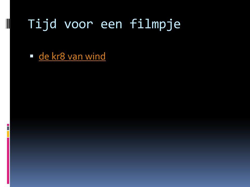Tijd voor een filmpje  de kr8 van wind de kr8 van wind