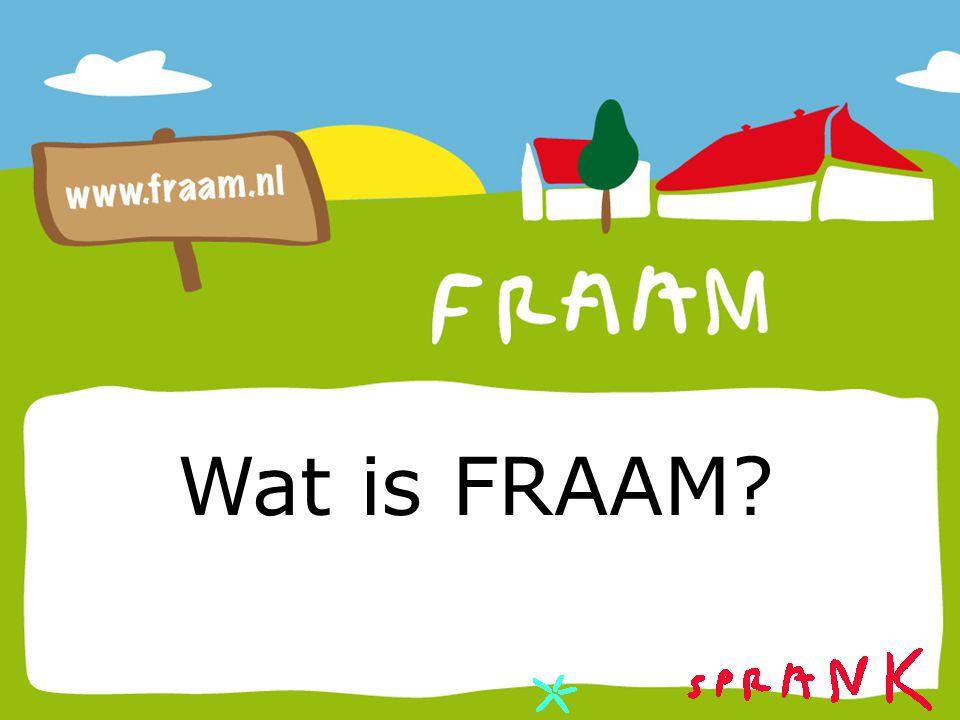 Een boerderij van stichting Sprank in Middelstum WAT IS FRAAM?
