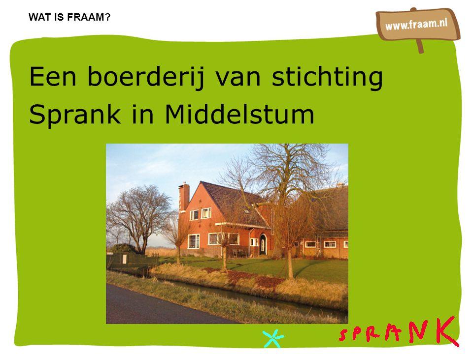 Een boerderij van stichting Sprank in Middelstum WAT IS FRAAM