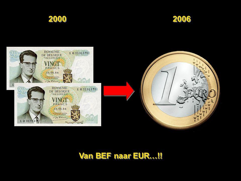 2000 2006 Van BEF naar EUR…!!