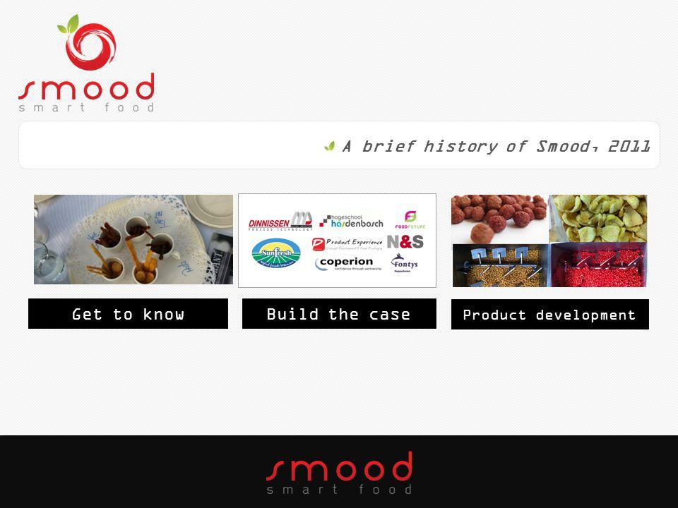 A brief history of Smood, 2012 Build the brandBuild the team Floriade
