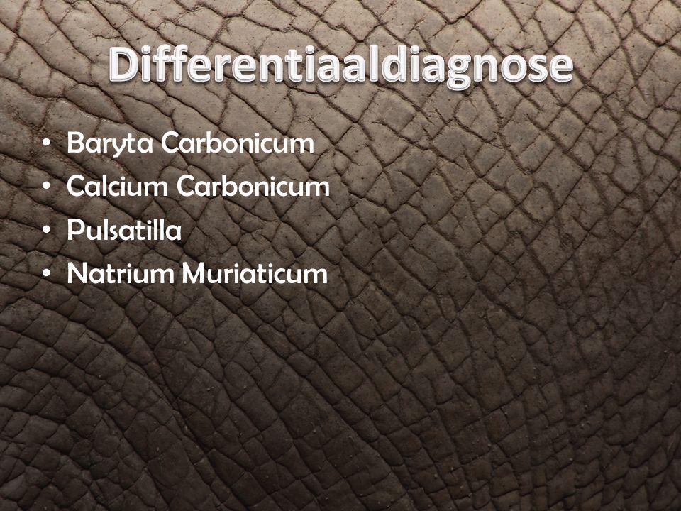 Baryta Carbonicum Calcium Carbonicum Pulsatilla Natrium Muriaticum