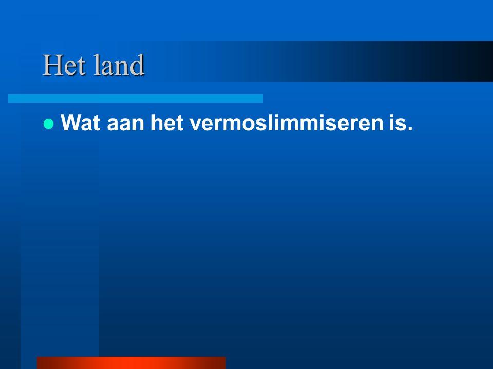 Het land Wat aan het vermoslimmiseren is.