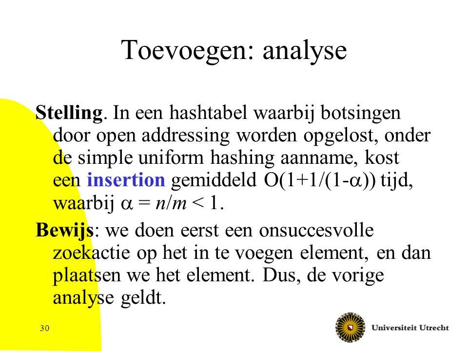 30 Toevoegen: analyse Stelling.