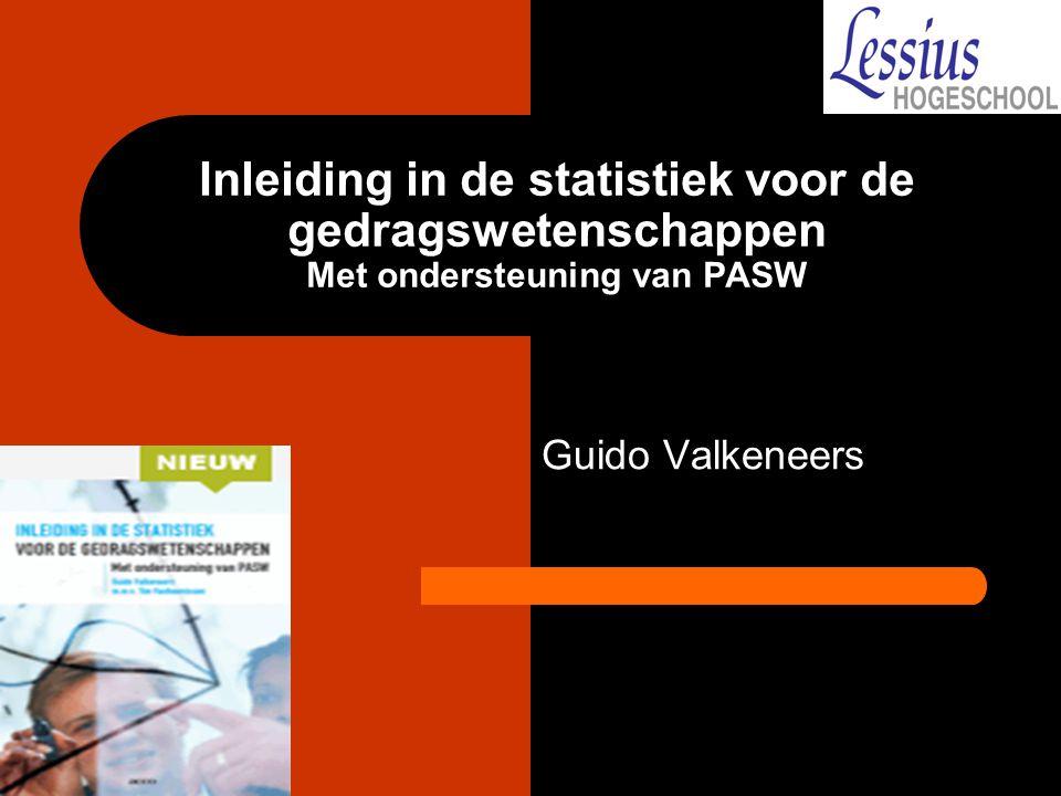 Inleiding in de statistiek Hoofdstuk III Frequentieverdelingen & PASW Descriptives guido.valkeneers@lessius.eu