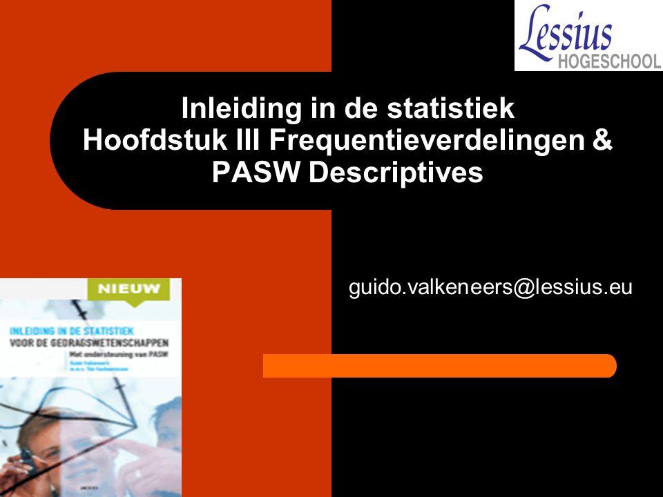 PASW geclusterd staafdiagram