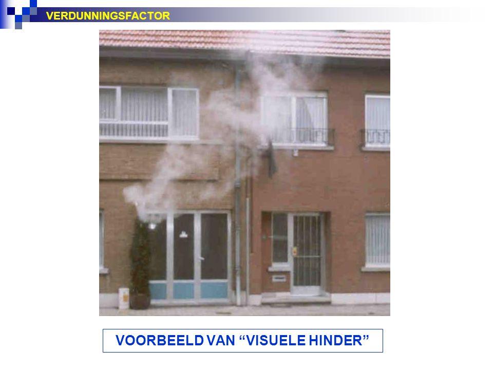 """VERDUNNINGSFACTOR VOORBEELD VAN """"VISUELE HINDER"""""""