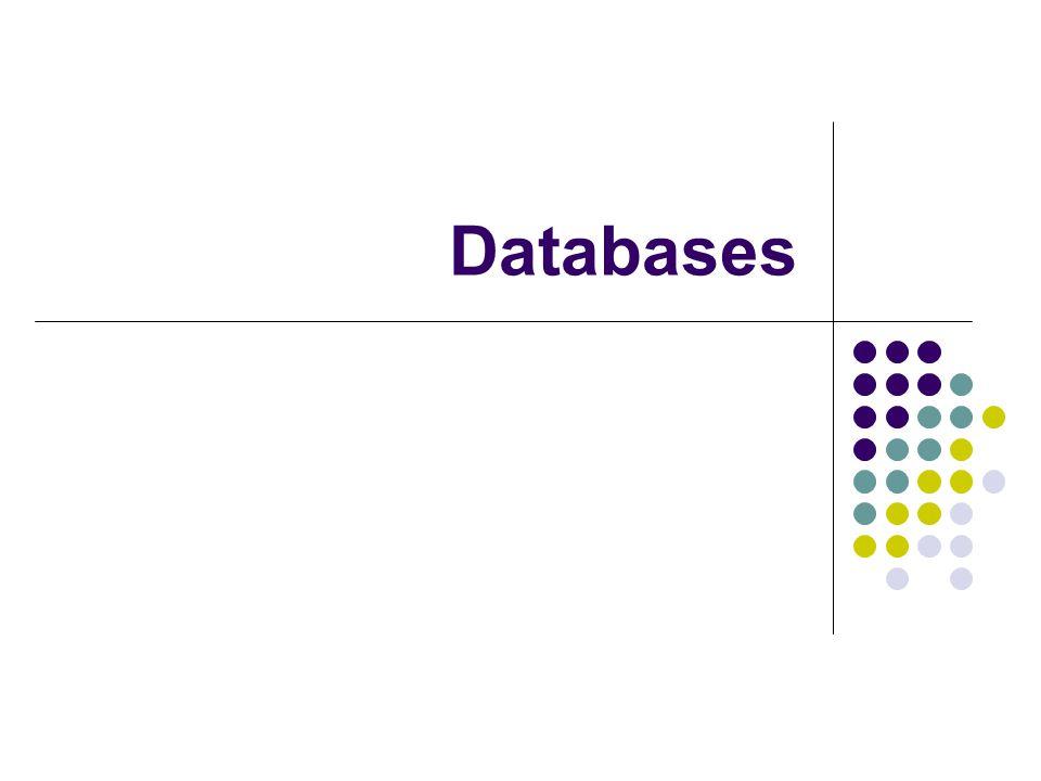 Wat zijn databases.