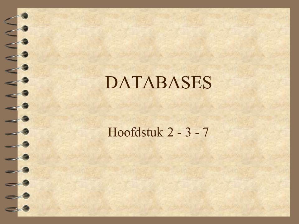 Het ontwerpen van databases 4 Algemene inleiding 4 Welke gegevens moet je opslaan?.