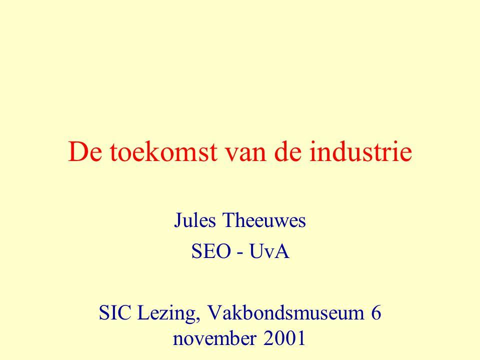 De toekomst van de industrie Jules Theeuwes SEO - UvA SIC Lezing, Vakbondsmuseum 6 november 2001